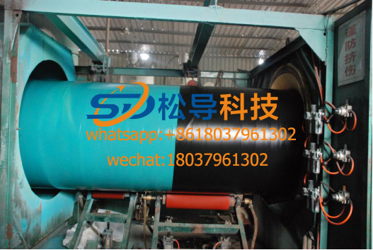 steel pipe 3-layer PE anti-corrosion production line offer