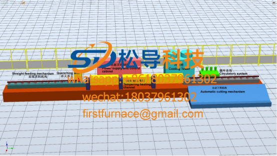 Steel rod quenching and tempering production line