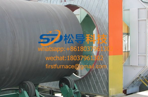 Ф108—Ф630 steel pipe 3-layer PE anti-corrosion production line