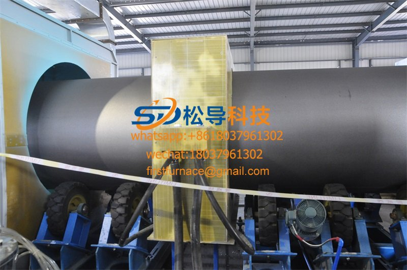 Ф114—Ф820 steel pipe 3-layer PE anti-corrosion production line