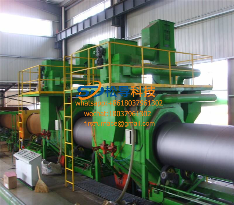Ф350—Ф1500 steel pipe 3-layer PE anti-corrosion production line