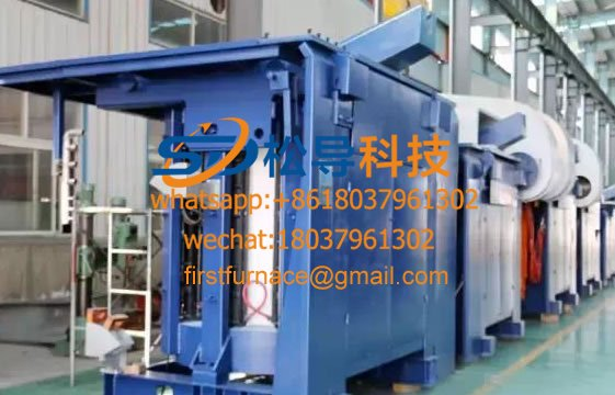 2T medium frequency induction iron melting furnace