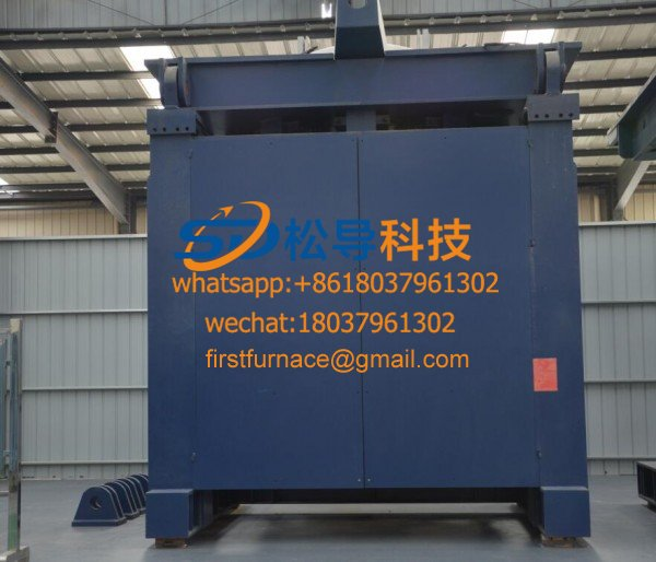 3T medium frequency melting iron furnace