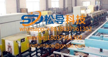 Steel pipe spray quenching production line