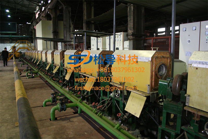 Medium frequency quenching and tempering production line