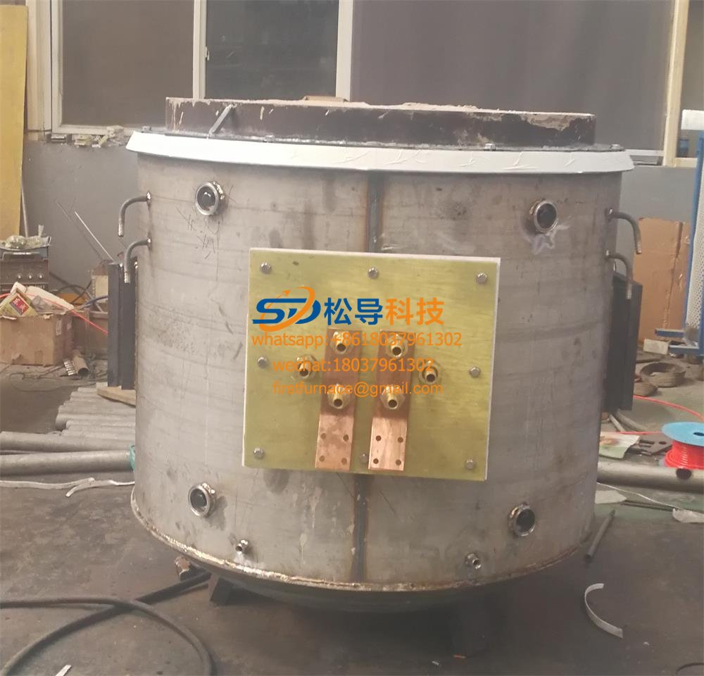 400KG electromagnetic copper melting furnace