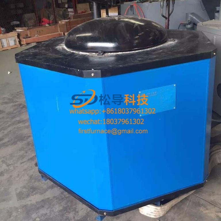 350KG electromagnetic melting zinc furnace