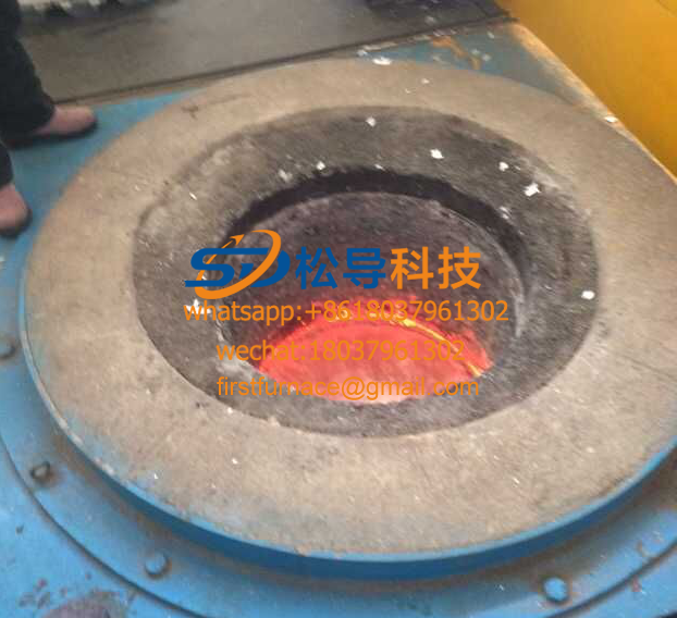 500KG electromagnetic copper melting furnace