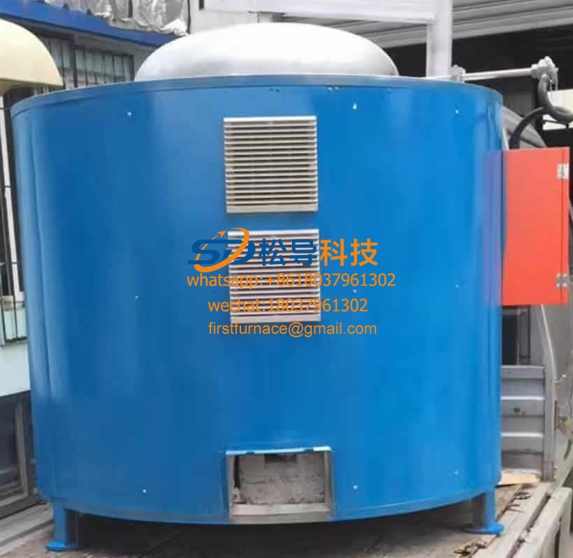 500KG electromagnetic melting zinc furnace