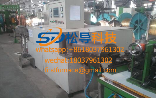 Copper rod medium frequency heating furnace