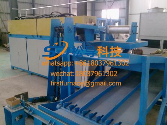 aluminum rod induction heating furnace