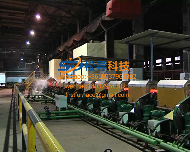 steel pipe quenching and tempering production line